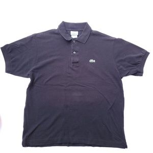 Lacoste black polo men's size 5/L